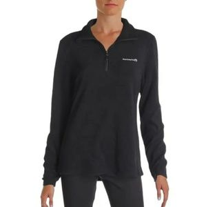 Avalanche Black Fleece Half Zip Pullover Jacket
